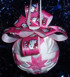 Hello Kitty Quilted Ornament