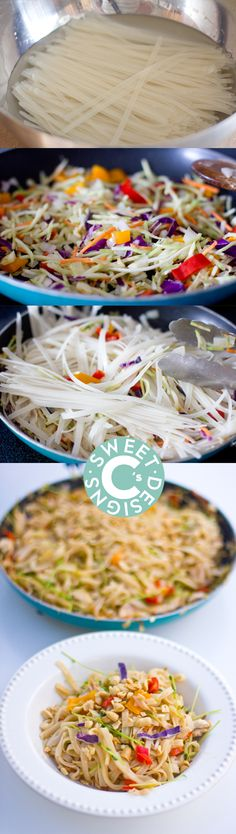 One Pan Garlic Chili Pan Fried Noodles- delicious, quick and easy gluten free noodle stir fry recipe!