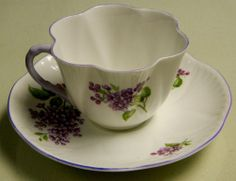 ** SHELLEY LILAC TIME DAINTY 14293 CUP & SAUCER C&S  **