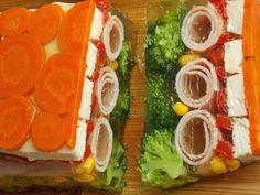 Galaretka z kurczakiem i szynką – KuchniaMniam Avocado Toast, Cobb Salad, Sushi, Tasty, Breakfast, Ethnic Recipes, Food Recipes, Morning Coffee, Morning Breakfast