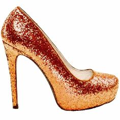 Women s Sparkly Tangerine Orange Glitter Pumps high low Heels Wedding bride  Shoes fdcc02b7f