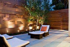 integrierte Beleuchtung schicke Terrasse Gartenmöbel Rattan