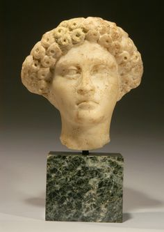 CE) Roman Marble Head of a Patrician Woman Roman Hairstyles, Ancient Rome, Sculptures, Marble, Statue, Woman, Portrait, Hair Styles, Art