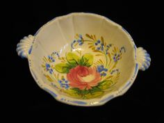 Your place to buy and sell all things handmade Vintage Crockery, Yellow Tulips, Cabbage Roses, Cream Soup, Plum Color, Pie Dish, Colorful Backgrounds, Serving Bowls, Chips