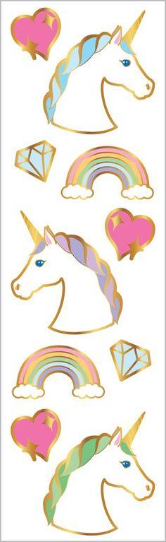 Mrs Princess Grossman/'s Giant Stickers 2 Strips Fairy Unicorn Frog