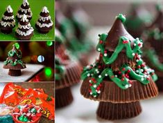 Reeses Peanut Butter Christmas Trees DIY