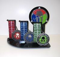 Spartan Race Trifecta Medal Display ,OCR, Race, Made For Spartan Medals Spartan Trifecta, Race Medal Displays, Belt Display, Obstacle Course Races, Wall Of Fame, Spartan Race, Christmas Gifts, Racing, Triathlon