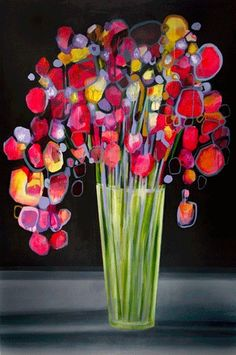 Zoe Pawlak. Just lovely how the shapes and colors complement each other.