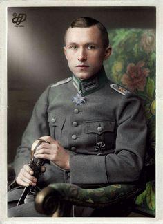 Imperial German World War 1 Hero Ernst Junger. Source: WW1 Color Photos, Facebook