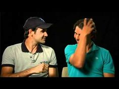 Roger Federer and Rafa Nadal cannot stopping laughing trying to film this commercial spot.....it's contagious!