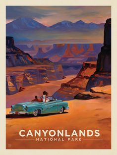 Kai Carpenter for Anderson Design Group: Oil Painting, Retro Travel Poster, Canyonlands National Park