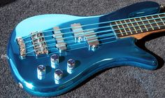 Warwick Streamer in Blue Chrome Bass