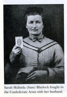 1860s: Elizabeth Thomas Women who fought as men in the Civil War    Sarah Blaylock