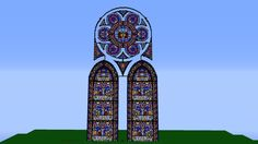 The Minecraft Map, Fantasy stained glass cathedral(WIP), was posted by Rahgna.