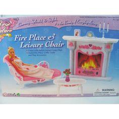 amazoncom barbie size dollhouse furniture living room fire place leisure chair amazoncom barbie size dollhouse