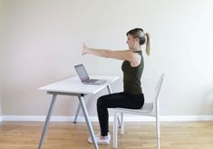 9 Seated Stretches to Release Neck + Back Pain