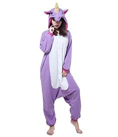 Purple Unicorn Animal Kigurumi Pajama Costume For Adult and Teenagers Small *** Check out this great product.