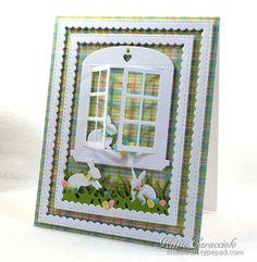 Art Impressions Rubber Stamps: Ai Dies: 4619 – Window Die ... handmade Easter Card.