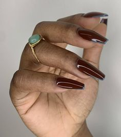 Nail Color Trends 2021: French Tips Nail Polish Style, Types Of Nail Polish, Types Of Nails, Matte Nail Colors, Statement Nail, Popular Nail Colors, Gel Manicure Nails, Yellow Nail Art, Classic French Manicure