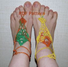 Crochet Barefoot Sandals Pattern Nude shoes Pattern Beach Wedding DIY Easy Crochet Pattern PDF Tutorial Crochet fish pattern Foot Jewelry by CrochetByPapilio on Etsy