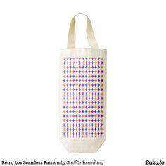 Retro 50s Seamless Pattern Zazzle HEART Wine Bag
