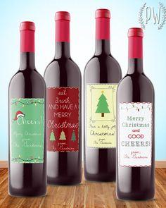 Christmas wine label printable gift sticker by PrintableWisdom, $8.00