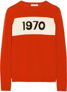 d6fed6db8ce9 Bella Freud 1970 intarsia wool sweater Koftor, Stickat, Stickning,  Collegetröjor, Vinter,