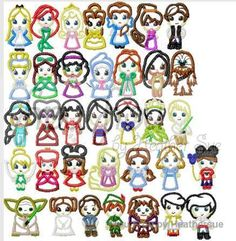 35 Little Princesses and Princes Cuties SET, Multiple sizes, including 4 inch