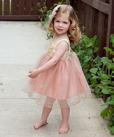 Light Pink Lace Dress - Infant, Toddler & Girls #zulily #zulilyfinds