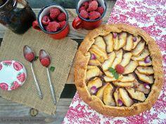 Apple and raspberry jam Galette - Galette de Manzana y Mermelada de Frambuesa - La Cocina de los inventos