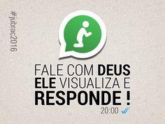 """Imagem construída para a vigília da Jubrac, com o tema """"Fale com Deus, Ele visualiza e responde !"""""""