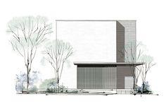 MISAWA DESIGNERS CODE INTEGRITY インテグリティ | ミサワホーム Minimal Architecture, Architecture Graphics, Japanese Architecture, Concept Architecture, Facade Architecture, Facade Design, Exterior Design, Minimal House Design, Casa Patio
