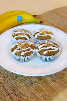 Traditional carrot muffins meet banana muffins in this tasty recipe.