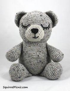 Sleepy Bear • Free tutorial with pictures on how to make a bear plushie in 12 steps