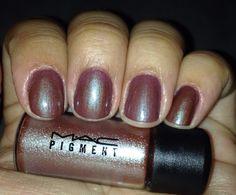 MAC Blue Brown Pigment nails!! I'm in love!!