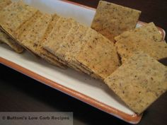 Almond-Arrowroot Crackers   Buttoni's Low Carb Recipes