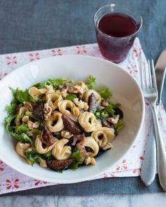 Tortellini Salad with Figs, Walnuts, Prosciutto & Greens