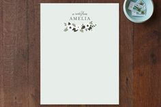 Classic Posy Personalized Stationery by Sarah Brown at minted.com