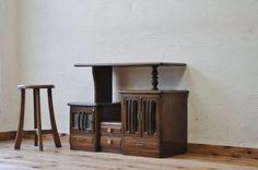 Cabinet R 007143古いナラ材の変り型キャビネット(収納棚)アンティーク インテリア 雑貨 家具 Antique ¥46500yen 〆07月25日