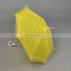 Yellow Lace Wedding Umbrella