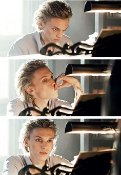 Jace (played by Jamie Campbell Bower) and his piano. The Mortal Instruments: City of Bones