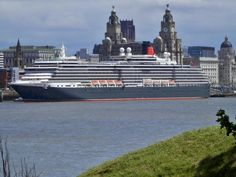Last of the 3 Queens to leave Liverpool was Queen Victoria, here berthed at Liverpool Cruise Terminal and viewed from close to Wallasey Town Hall. Liverpool Home, Liverpool England, Town Hall, Queen Victoria, Great Britain, Rock Music, Photo Credit, Queens, Past