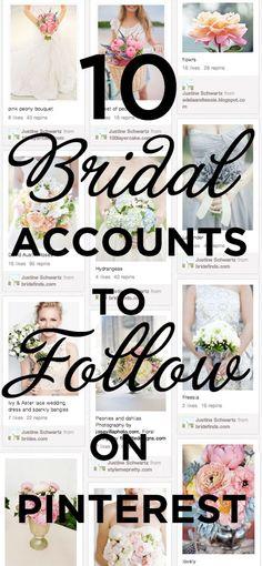 10 Bridal Accounts to Follow on Pinterest!