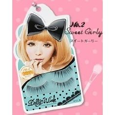 Koji Dolly Wink Eyelashes by Tsubasa Masuwaka - Sweet Girly (02) by KOJI. Save 5 Off!. $17.99. Color: Black 1 pack (2 pairs) *For upper eyelash. Length are almost the same. Straight from Japan. Extreme length and volume to create a big eyes. The lashes have more density (thicker) as it go towards the end par. Koji Dolly Wink No.2 Sweet Girly is a false eyelash that helps to create a girly but with a bit of mature feeling!!!