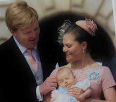 King Willem Alexander, Crown Princess Victoria and Princess Estelle