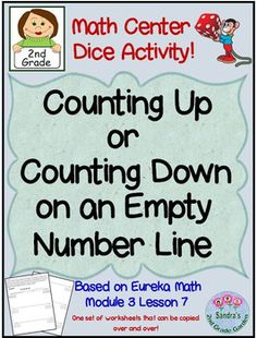 Fun Math Center with dice!Great practice for understanding addition and subtraction for 3 digit numbers!Students roll the dice and place the numbers in boxes on a blank number line. They then model how to add or subtract to reach the number at the end of the number line.