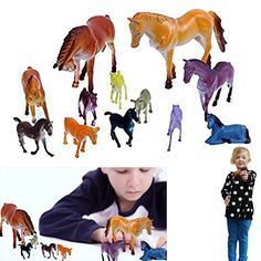 Dazzling Toys 12 Pack Plastic Horse Figures Kids Mixed Lot Toy Model Horses *** This is an Amazon Affiliate link. Details can be found by clicking on the image.