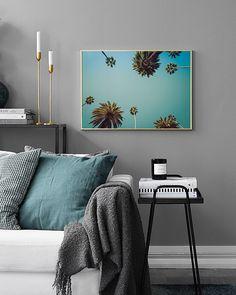 Palms & sky Poster