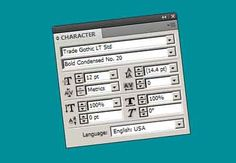 How to Use the Character Panel in Adobe InDesign