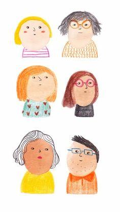 People Illustration, Portrait Illustration, Children's Book Illustration, Character Illustration, Watercolor Illustration, Illustration Mignonne, Art Mignon, Posca Art, Illustrations And Posters